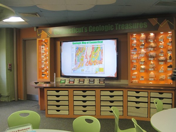 the interactive screen in Discovery Room