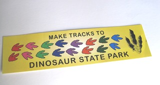 yellow bumpersticker with track images