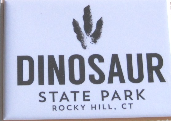Dinosaur Park magnet with Euprontes track